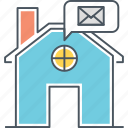 home message, voicemail icon