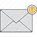 important email, important mail, mail alert, mail notification, new email, new mail icon