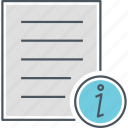 guidebook, info, information, information letter icon