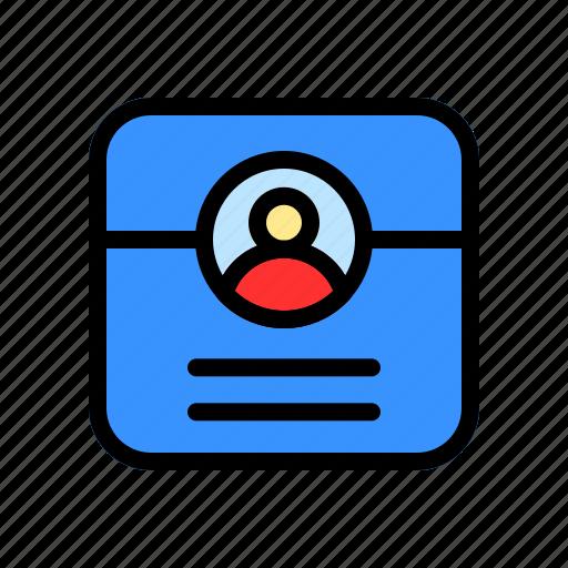 account, contact, info, profile, user icon