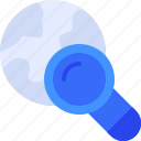 web, search, worldwide, global, magnifier icon