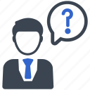 ask, contact us, customer service, problem, question icon