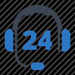 call center, headphones, non stop icon