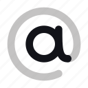 at, email, mail, communication, duotone, interface icon