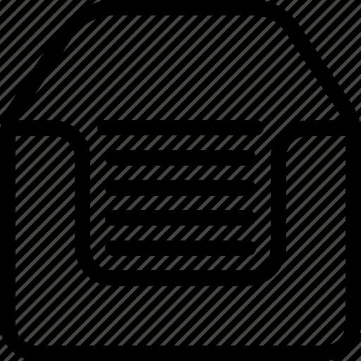 archive, document, files, folder, paper icon