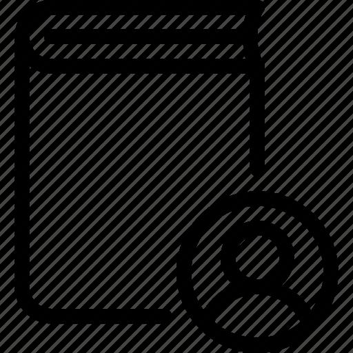 book, content, people, profile, user icon