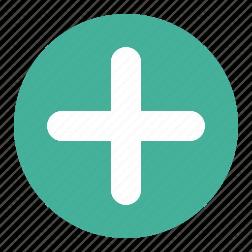 add, circle, content, new, plus icon