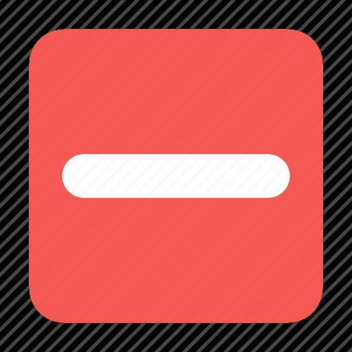 box, cancel, content, delete, minus, remove icon