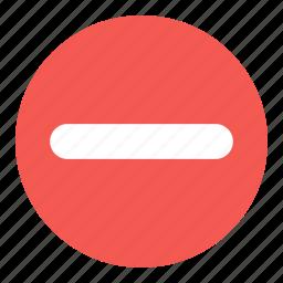 circle, content, remove icon