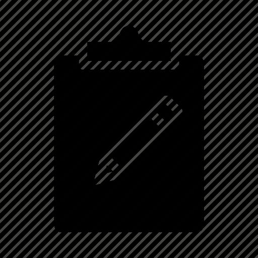 clipboard, create, document, new, write icon