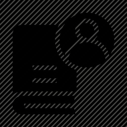 account, avatar, book, profile, user icon