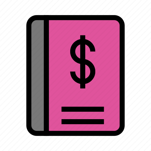 book, cash, content, dollar, money icon