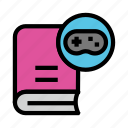 book, content, game, knowledge, play icon