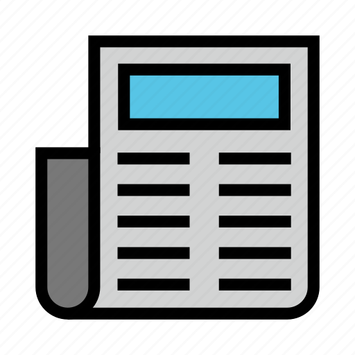 article, news, paper, press, reading icon