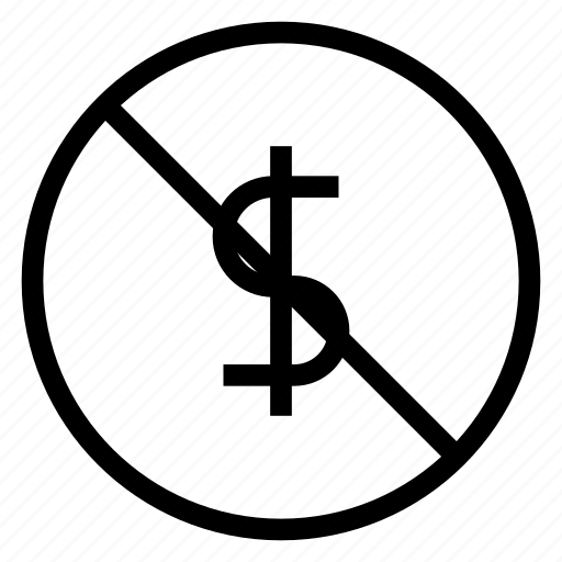 banned, block, cash, dollar, money icon