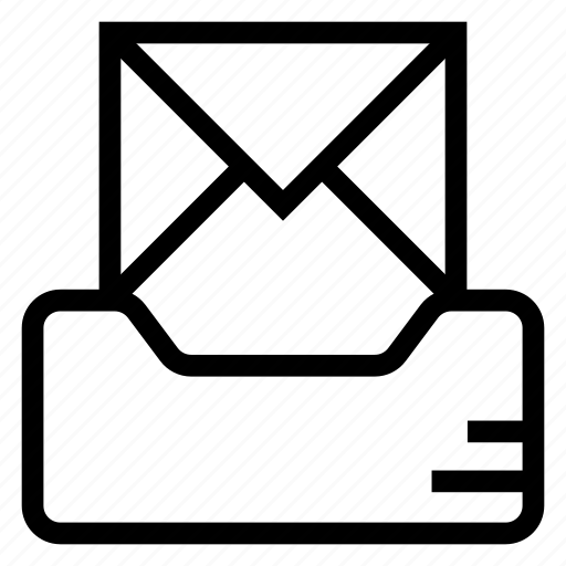 drawer, email, inbox, mail, message icon