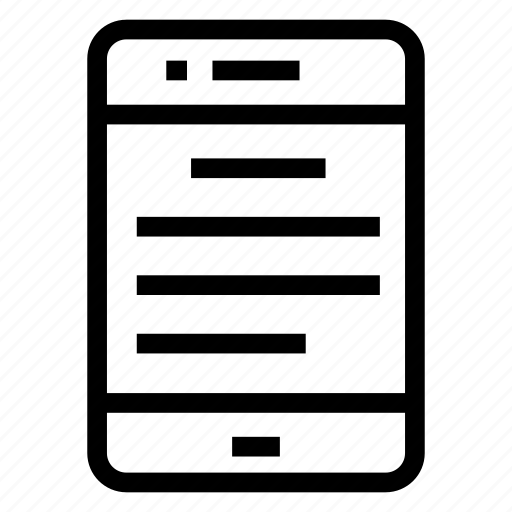 device, gadget, mobile, phone, text icon