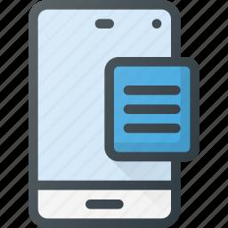 content, copywriting, document, mobile icon