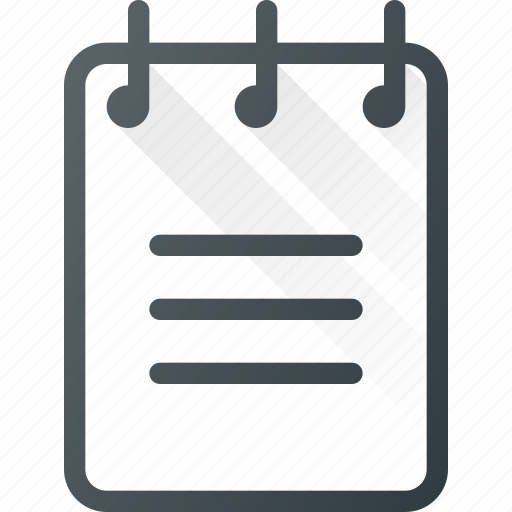content, copywriting, document, notebook, planner, text icon