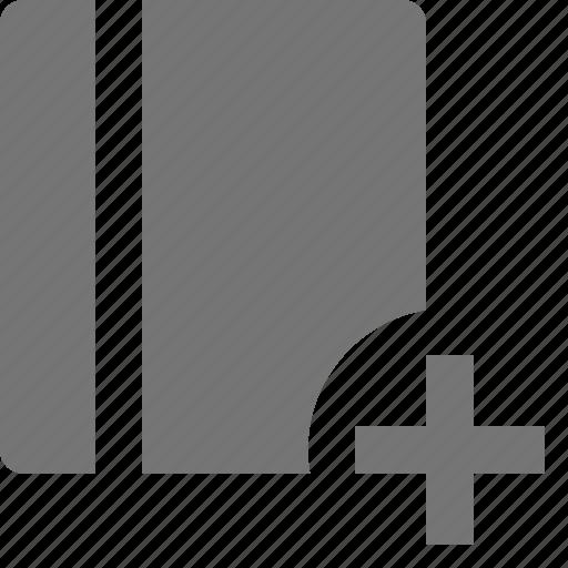 add, book, content, new, plus icon