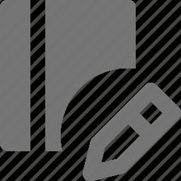 book, content, edit, pencil icon