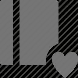 book, content, favorite, heart, like icon