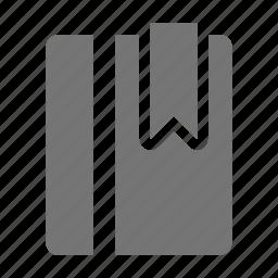 book, bookmark, content, tag icon