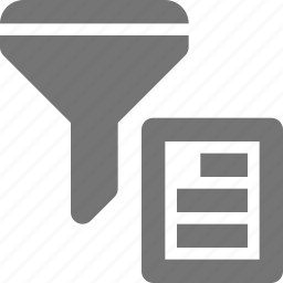 content, document, filter, funnel, text icon
