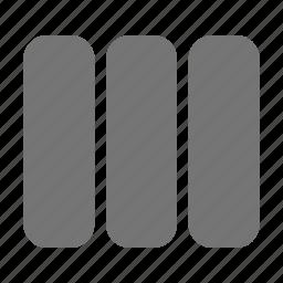 column, content, view icon