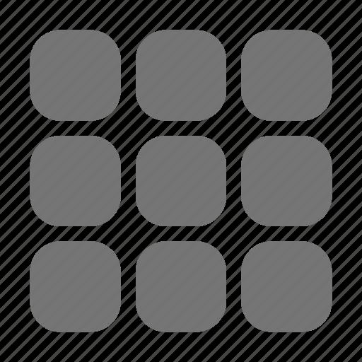 content, modules, view icon