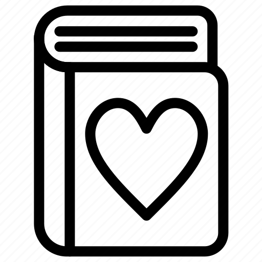 book, content, heart, like, notes icon