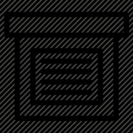 archive, box, content icon