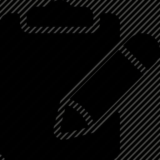 clipboard, pen, pencil, tool, write icon