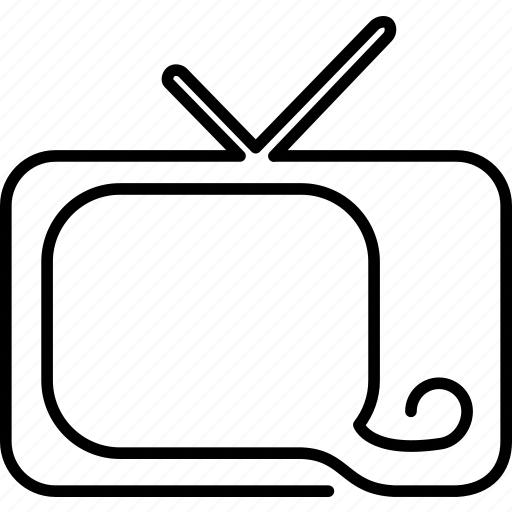appliance, box, screen, television, telly, tv, watch icon