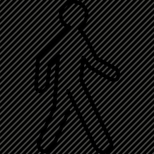 onfoot, pedestrian, transport, transportation, travel, walk, walking icon