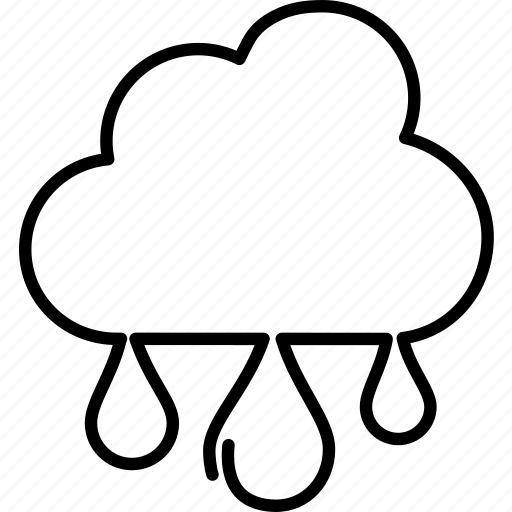 drizzle, forecast, heavy, pouring, rain, showers, weather icon