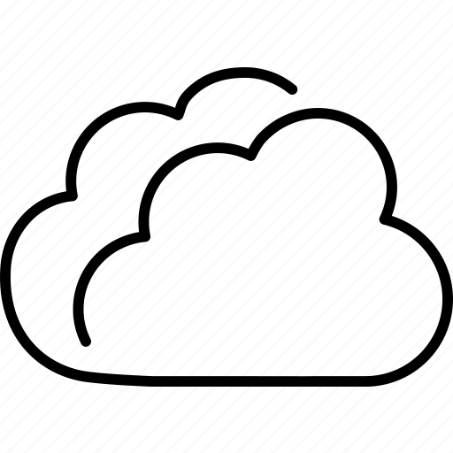 clouds, cloudy, forecast, overcast, weather icon