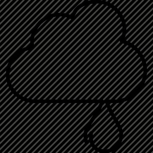 drizzle, forecast, light, rain, raining, showers, weather icon