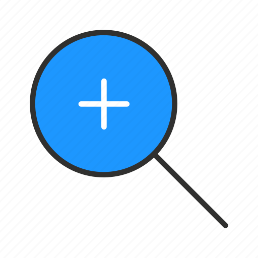magnifying glass, maximize, zoom, zoom in icon
