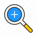 magnifying glass, maximize, zoom, zoom in