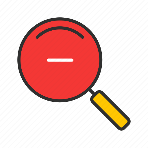 magnifying glass, minimize, zoom, zoom out icon