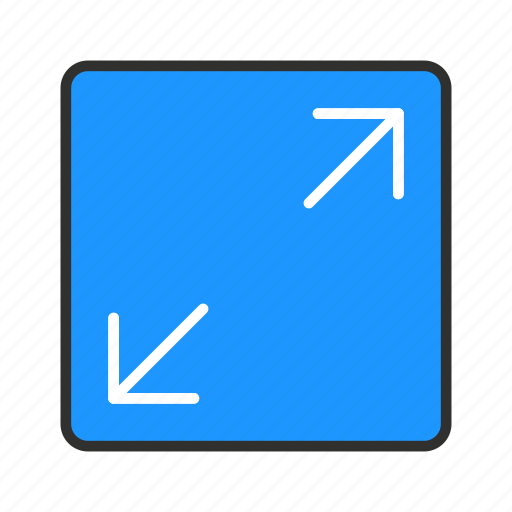 expand, maximize, resize, stretch icon