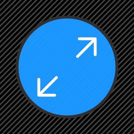 expand, maximize, resize, stretch icon