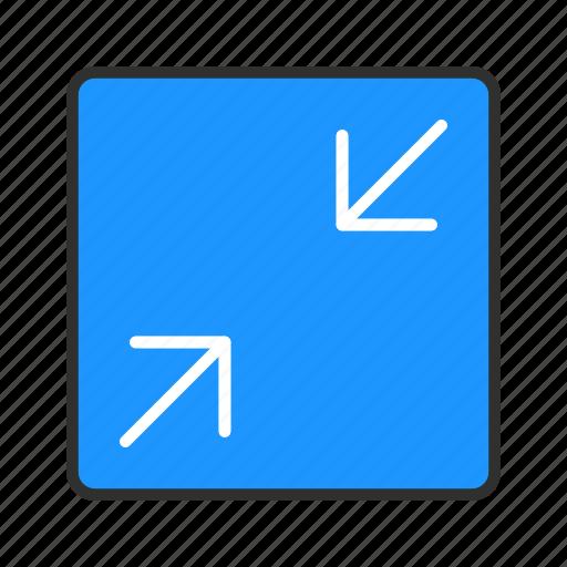 minimize, resize, shrink, stretch icon