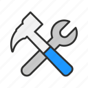 screw driver, setting, tools, wrench icon