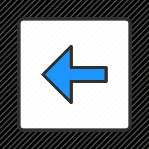 arrow back, back, return, undo icon