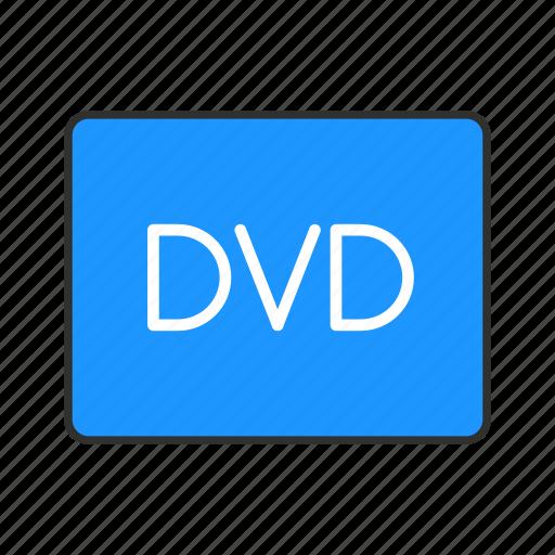 digital video disc, dvd, multimedia, video player icon