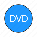 digital video disc, dvd, multimedia, video player icon