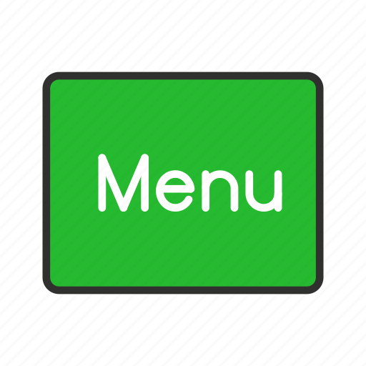 home, menu, notification, setting icon