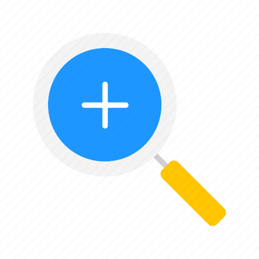 add, browse, magnifying glass, zoom in icon